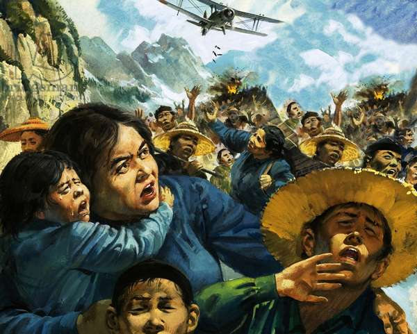 Gladys Aylward, a missionary in China, leads over 100 children to safety during the China-Japan war