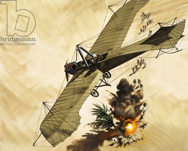 in 1911, Lt. Giulip Gavotti became the first man to drop a bomb from a plane