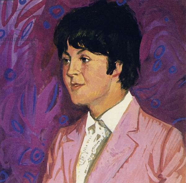 Paul McCartney of The Beatles (colour litho)