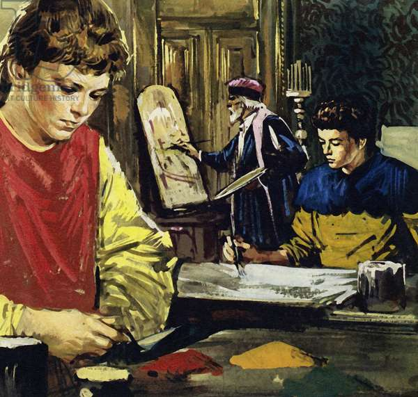 Jan and his brother Herbert Van Eyck began life apprenticed to a local painter (colour litho)