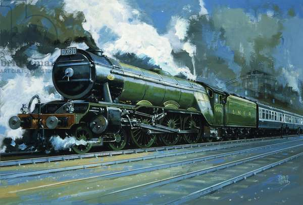 The Flying Scotsman (gouache on paper)