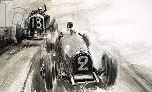Tim Birkin driving at Brooklands
