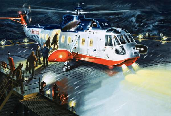 A British Airways rescue helicopter