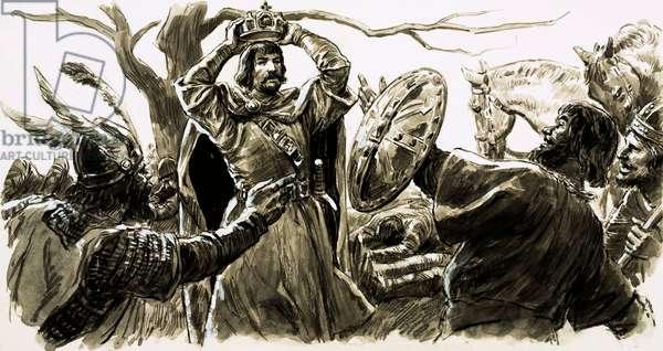 Macbeth - Not Guilty of Murder (gouache on paper)