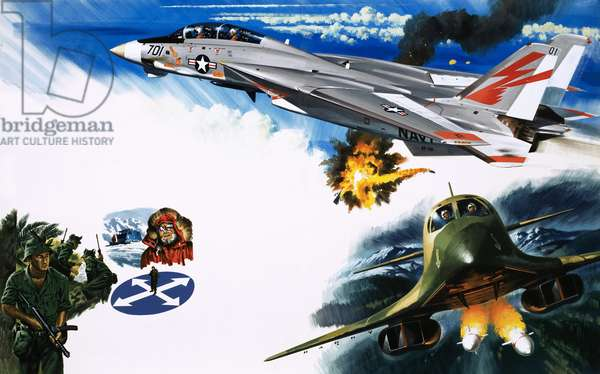 Grumman F-14 (top) and B-1 Bomber (bottom)
