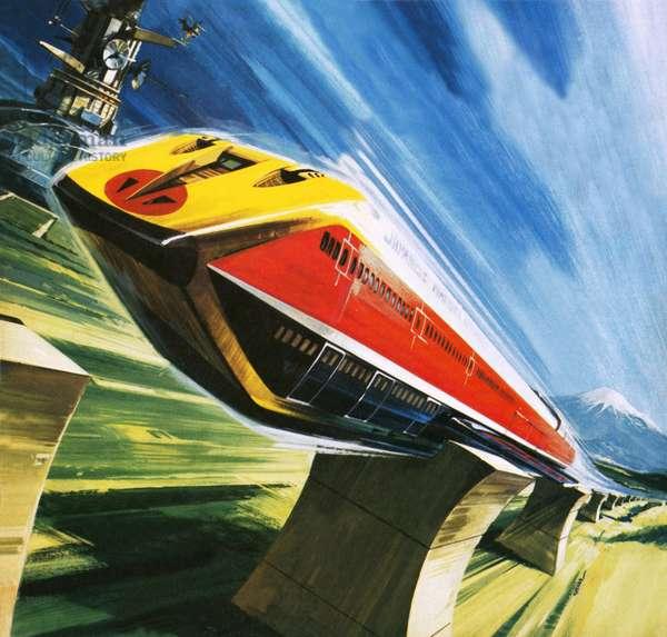 Artist's conception of a glider train