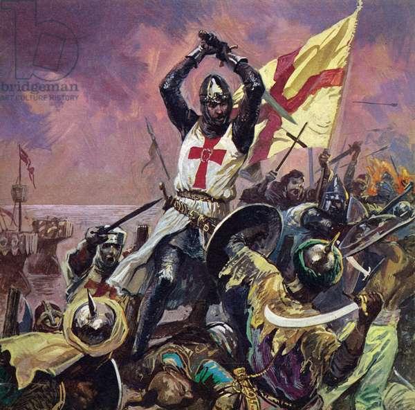 The Crusades (colour litho)