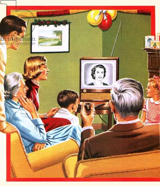 Queen Elizabeth II's first Christmas tv broadcast