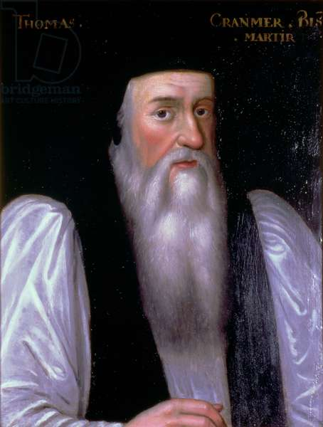 Thomas Cranmer (1489-1556) Archbishop of Canterbury, painted after 1547 (panel)