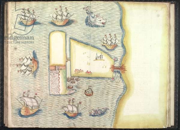 Ms 634 f.97v-98 From 'A Survey of the Estate of the Plantation of Londonderry Taken in 1624 by Thomas Phillips' (ink on vellum)