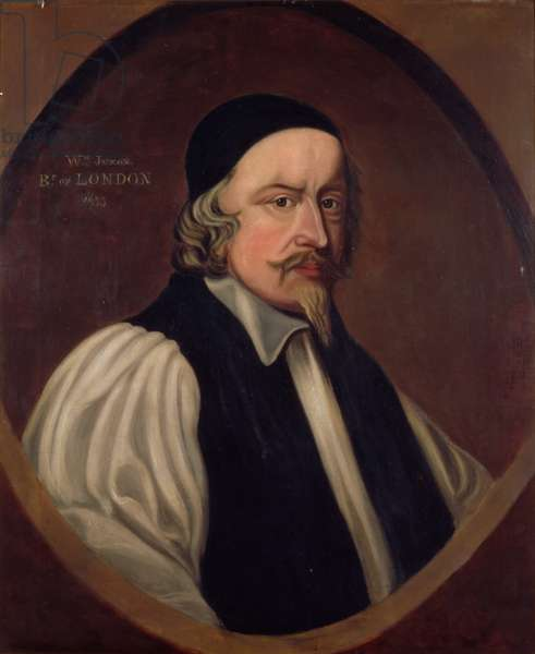 Portrait of William Juxon (1582-1663) Bishop of London and Archbishop of Canterbury (oil on canvas)
