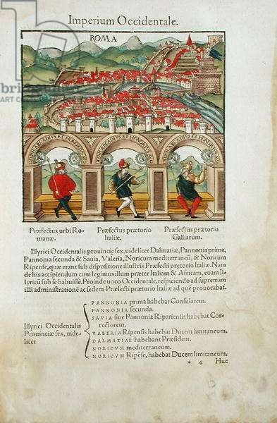 New Rome, Notitia Utraque, Basle, Froben, 1522 (woodblock)