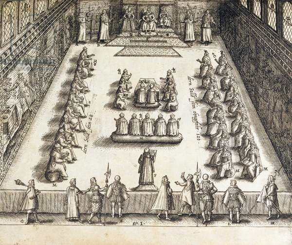 The Trial of Guy Fawkes (1570-1606) (engraving)