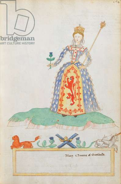 MS. 316, fol.18 Mary Queen of Scots (1542-87) (w/c on paper)