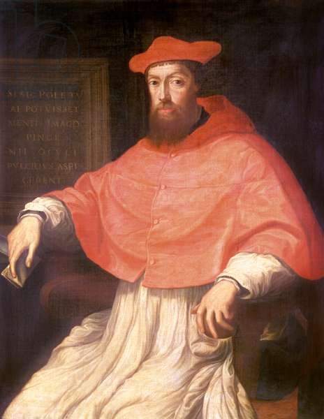 Cardinal Reginald Pole (1500-58) Archbishop of Canterbury (oil on panel)