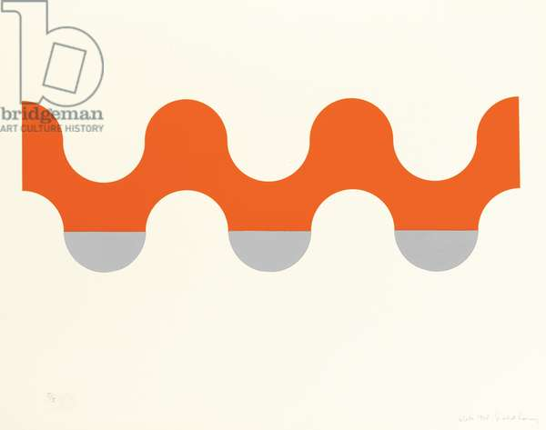 Glide, 1968 (screenprint with diecut Mylar)