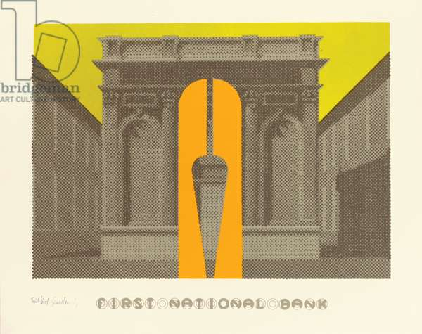 First National Bank, 1973 (colour litho)