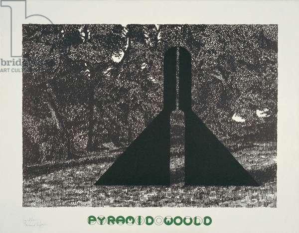 Pyramid Would, 1973 (colour litho)