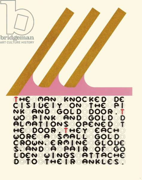"""""""The man knocked decisively"""", leaf 14 from 'DMT 42' by Galina Golikova, 1969 (screenprint)"""