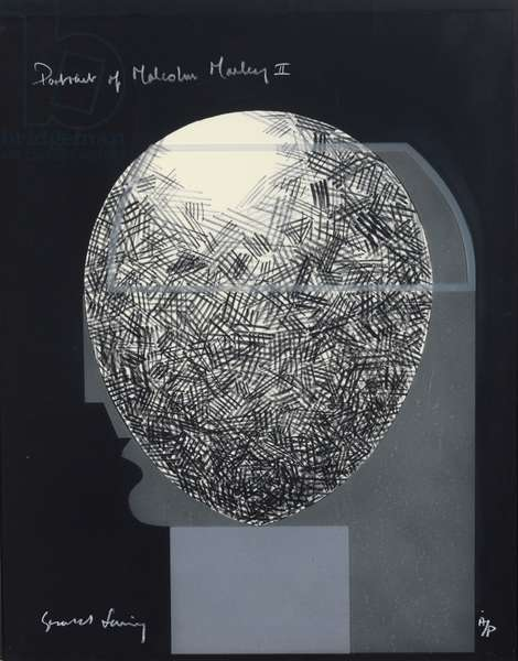 Portrait of Malcolm Morley I, 1976 (etched glass over lithography)