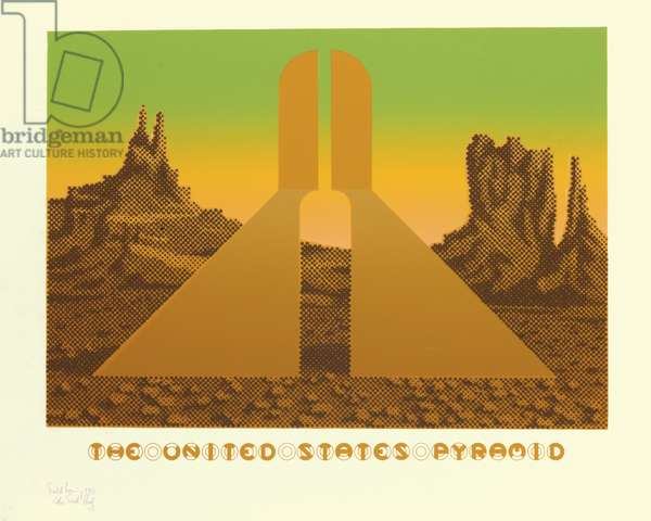 The United States Pyramid, 1973 (colour litho)