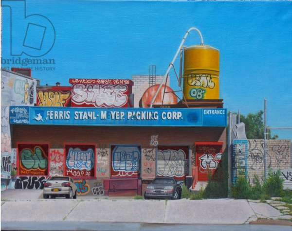 FSM Packing Corp, Bronx, 2013 (oil on canvas)