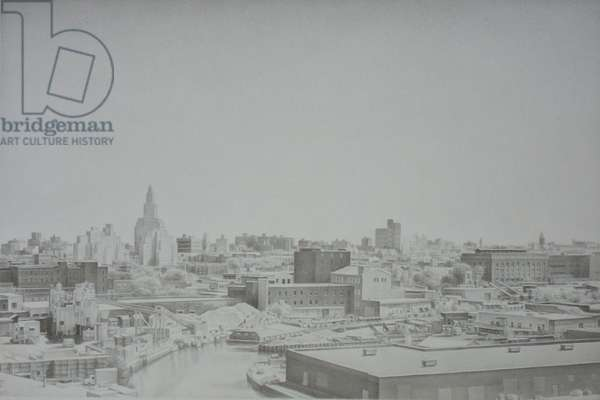 Gowanus Canal, 2005 (graphite on paper)