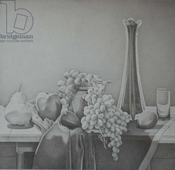 Still Life with Grapes, 1997 (graphite on paper)