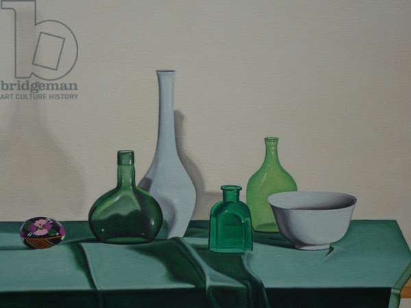 Still Life with Green Glass, 1995 (oil on paper)
