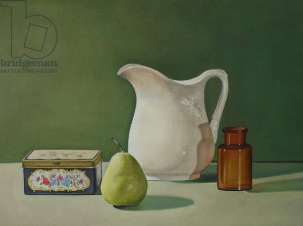 Still Life with a Pear, 2002 (oil on paper)