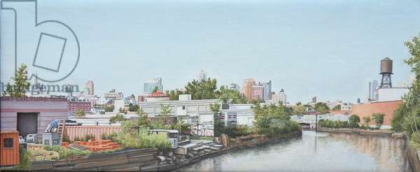 View from 3rd St. Bridge, 2009 (oil on linen)