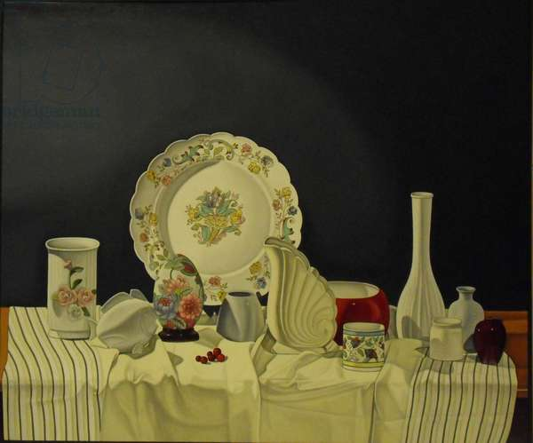 Still Life with Cranberries, 2000 (oil on canvas)