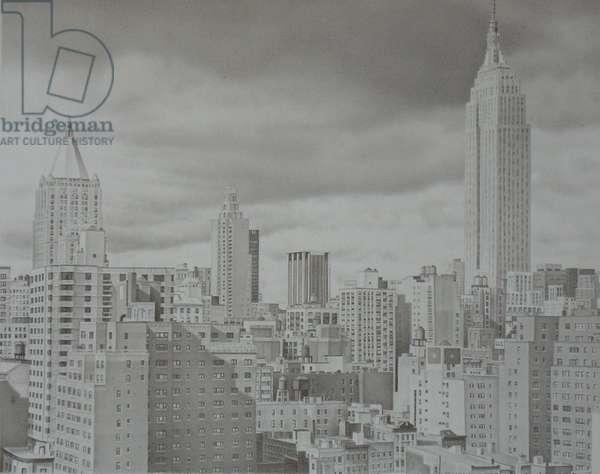 Midtown, 2004 (graphite on paper)