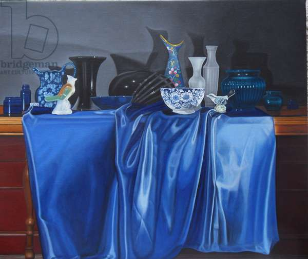 Composition in Blue and Black, 2012 (oil on linen)