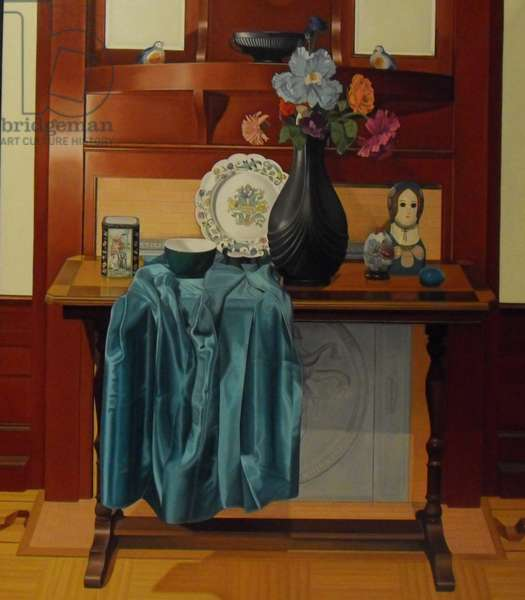 Still Life with a Decorative Plate, 2000 (oil on linen)