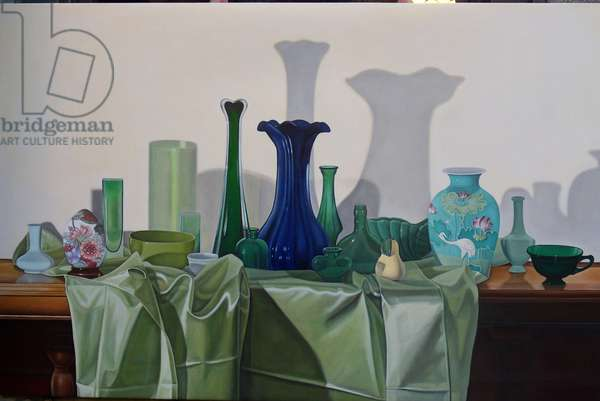 Composition in Green, 2010 (oil on linen)