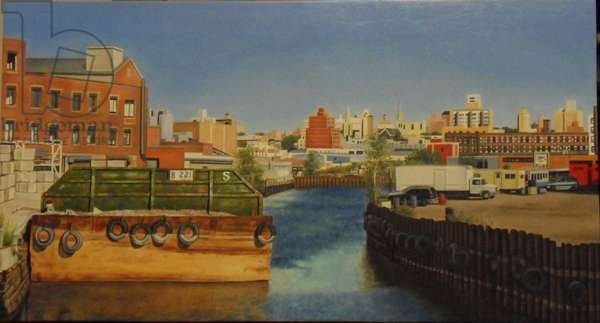 Barge 221, 2012 (oil on canvas)