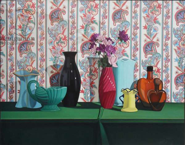 Still Life with 2 Hearts, 1993 (oil on linen)