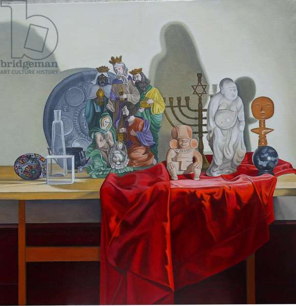 Still Life with 9 Figures, 2014 (oil on linen)