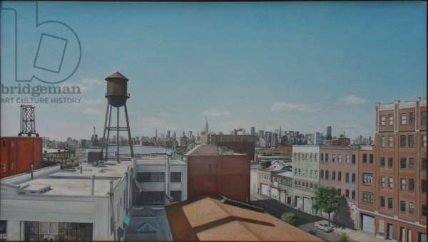 Water Tower, 2006 (oil on linen)