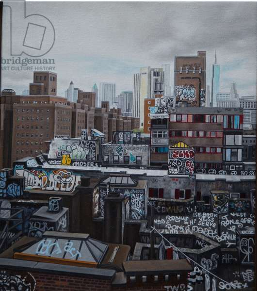 Chinatown from the Bridge, 2014 (oil on canvas)