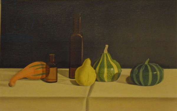 Still Life with Four Gourds, 1995 (oil on paper)