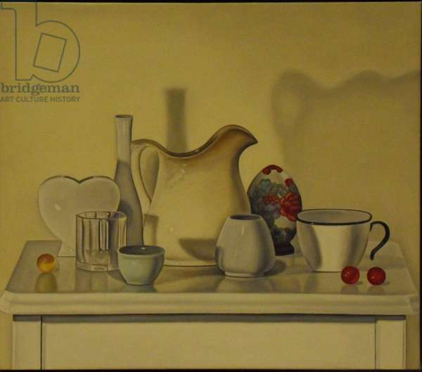 Still Life with a Porcelain Heart, 2000 (oil on linen)