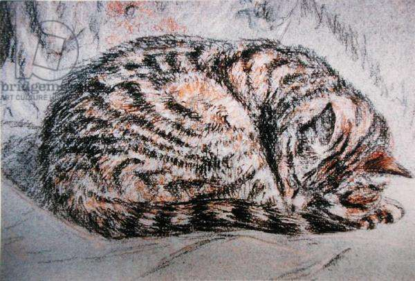 Florence Sleeps, 1989 (pastel on paper)