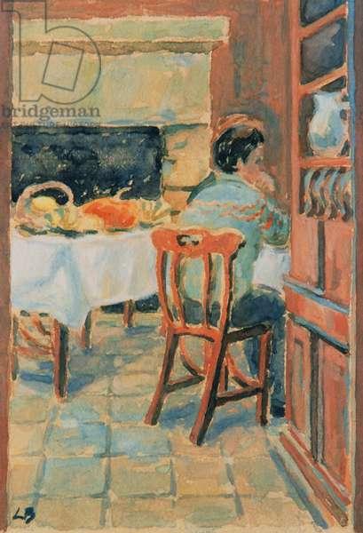 Interior of the Restaurant 'L'Ecrivain a Noel', 2002 (gouache on paper)