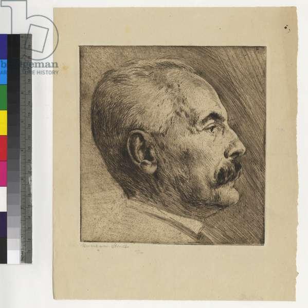 Leopold Schmidt, c.1912 (etching, ink on paper)