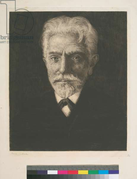 Portrait of August Bebel, 1909 (etching)