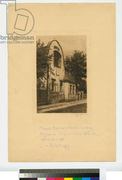House of Therese Krones in Döbling, Vienna, early 20th century (etching, ink on paper)