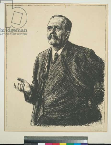 Friedrich Naumann, 1909 (litho, ink on paper)