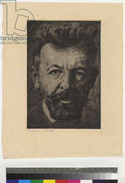 Portrait of Richard Dehmel, 1916 (etching, ink on paper)